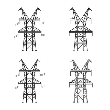 Vector design of electrical and station icon. Web element of electrical and pillar vector icon for stock.
