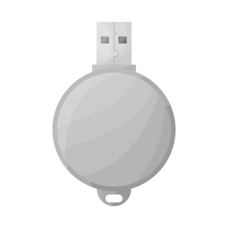 Vector illustration of usb and memory icon. Graphic of usb and ram vector icon for stock.