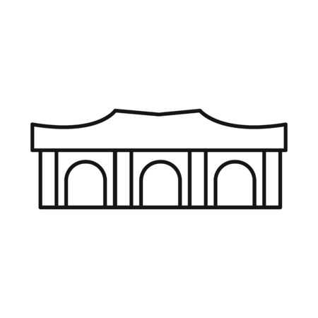 Isolated object of building and vietnam symbol. Set of building and architecture vector icon for stock.