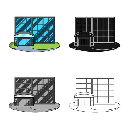 Vector illustration of emporium and shop sign. Collection of emporium and window vector icon for stock.