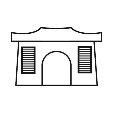 Isolated object of building and vietnam icon. Set of building and architecture vector icon for stock.