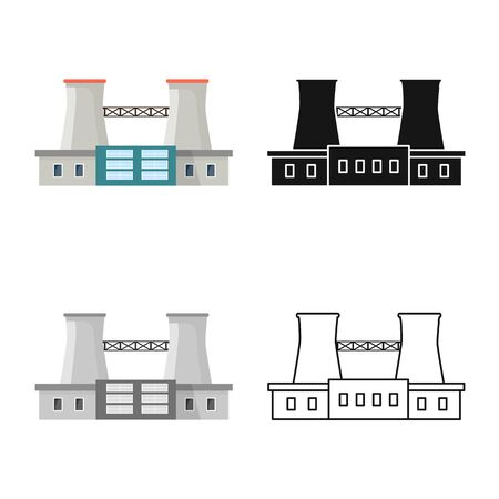 Vector illustration of warehouse and import sign. Collection of warehouse and logistics vector icon for stock.