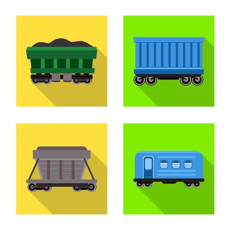 Vector illustration of transport and railroad sign. Collection of transport and logistics vector icon for stock.