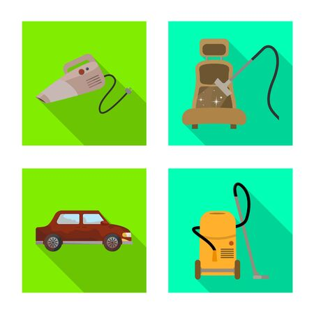 Isolated object of carwash and care  . Collection of carwash and automotive stock symbol for web. Illustration