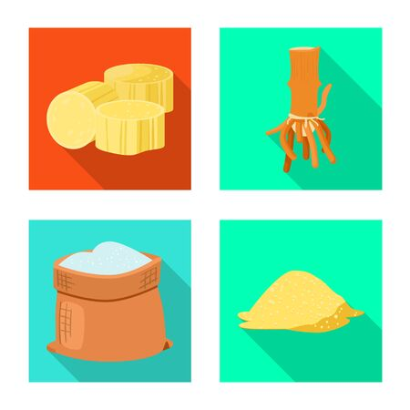 Isolated object of natural and production icon. Collection of natural and tropical vector icon for stock.
