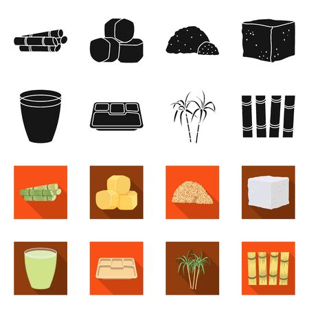 Vector design of industry and sugarcane symbol. Collection of industry and tropical vector icon for stock.