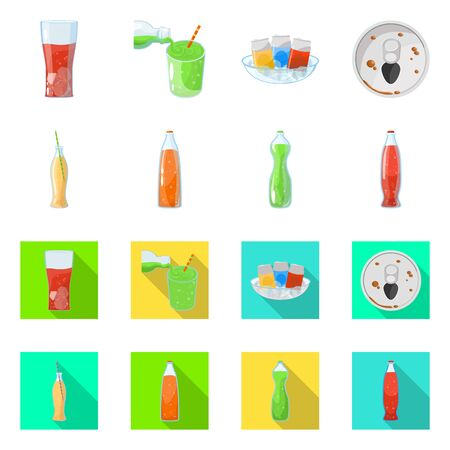 Vector illustration of drink and beverage symbol. Collection of drink and liquid stock vector illustration. Ilustrace