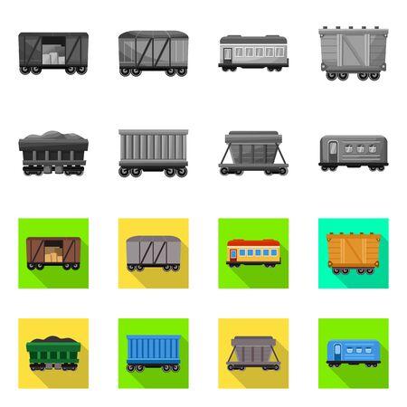 Vector design of logistics and industrial logo. Set of logistics and transport stock vector illustration.