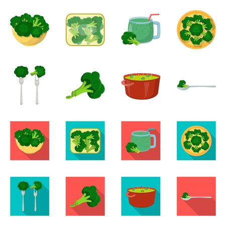 Vector design of eating and diet icon. Collection of eating and vegetarian stock vector illustration.