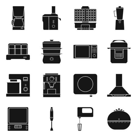 Vector illustration of domestic and technology sign. Collection of domestic and machinery stock vector illustration. Stock fotó - 133629427