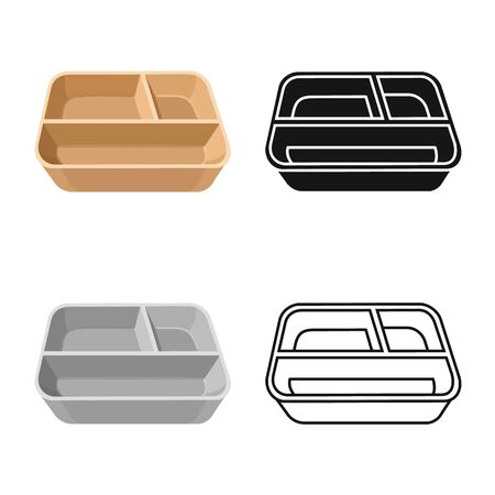 Vector design of container and paper logo. Graphic of container and packaging vector icon for stock. Ilustração