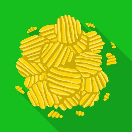 Vector illustration of chip and bunch logo. Web element of chip and fluted stock symbol for web.