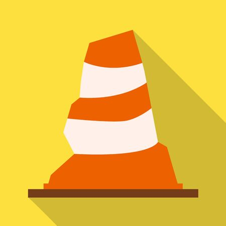 Vector illustration of road and cone logo. Web element of road and rumpled vector icon for stock. Иллюстрация