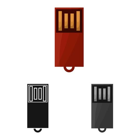 Vector design of usb and memory logo. Graphic of usb and device stock symbol for web. Иллюстрация