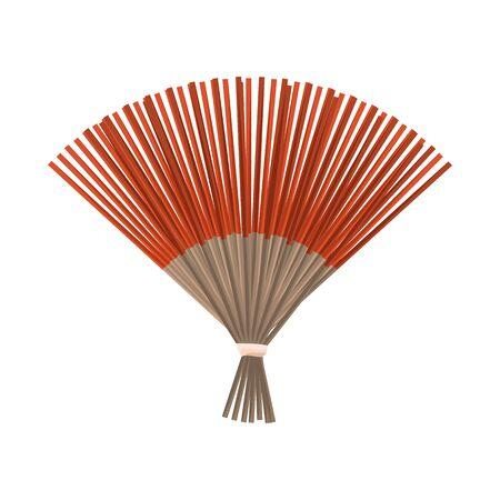 Objeto aislado de ventilador y símbolo oriental. Conjunto de ventilador e ilustración vectorial de stock fresco. Ilustración de vector