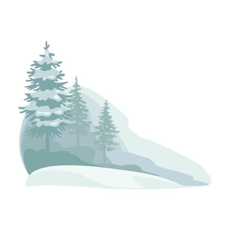 Snow forest vector icon.Cartoon vector icon isolated on white background snow forest.