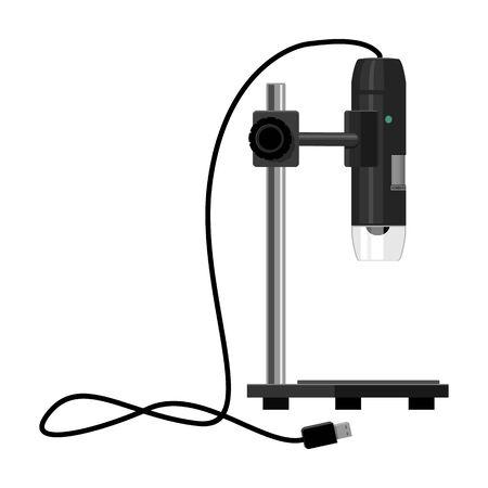 Laboratory microscope vector icon.Cartoon vector icon isolated on white background laboratory microscope.