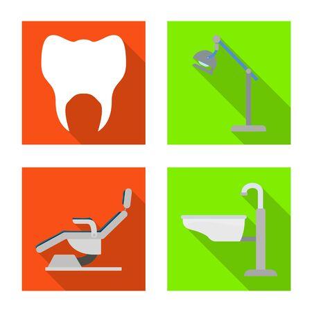 Vector illustration of dentistry and care sign. Collection of dentistry and dental stock vector illustration.