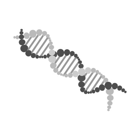Vector illustration of dna and molecule symbol. Web element of dna and genetic stock vector illustration. Stok Fotoğraf - 133632037
