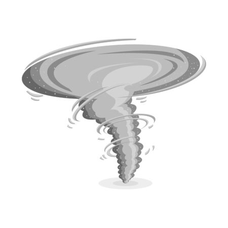 Vector design of tornado and wind logo. Web element of tornado and hurricane stock vector illustration. Foto de archivo - 133632086