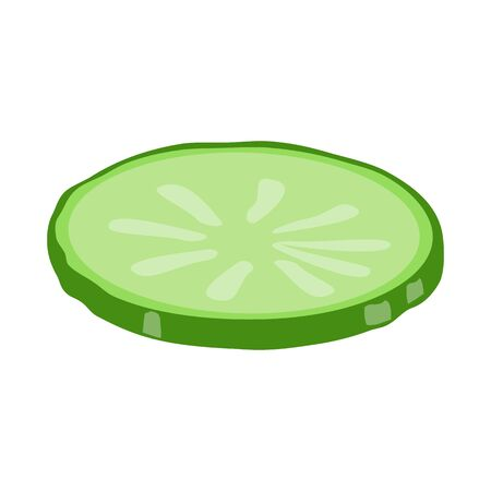 Vector illustration of cucumber and slice sign. Web element of cucumber and circle stock vector illustration. Ilustracja