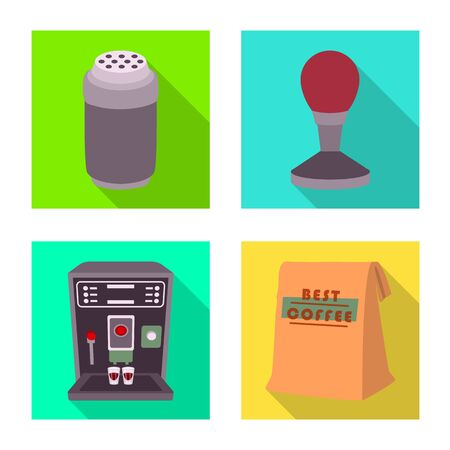 Vector design of cafe and house icon. Collection of cafe and service stock vector illustration. Standard-Bild - 133632111