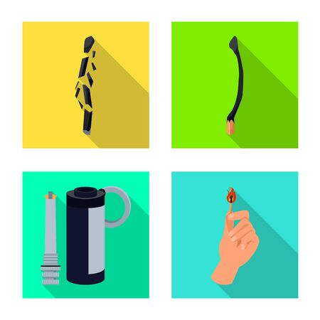 Vector illustration of and icon. Set of and stock vector illustration. Иллюстрация