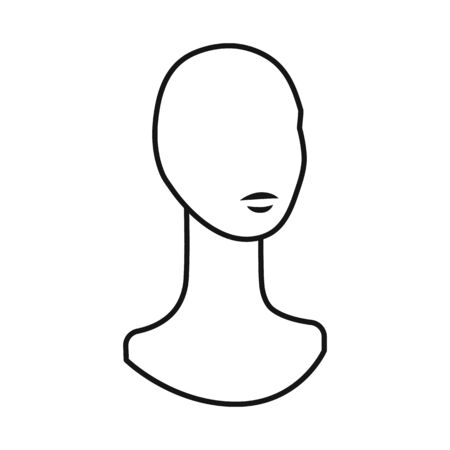 Vector illustration of dummy and bust sign. Web element of dummy and female stock vector illustration.