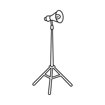 Isolated object of lamp and spot sign. Web element of lamp and photo stock symbol for web.