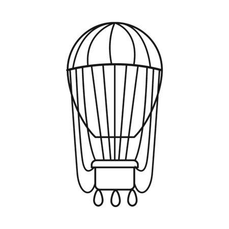 Isolated object of air and balloon sign. Web element of air and airship vector icon for stock.