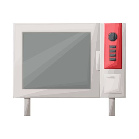 Isolated object of oven and convection symbol. Graphic of oven and microwave stock symbol for web. Standard-Bild - 133631600