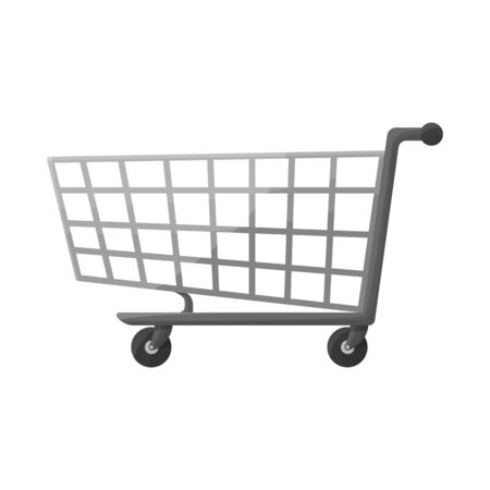 Isolated object of trolley and basket symbol. Graphic of trolley and store vector icon for stock.