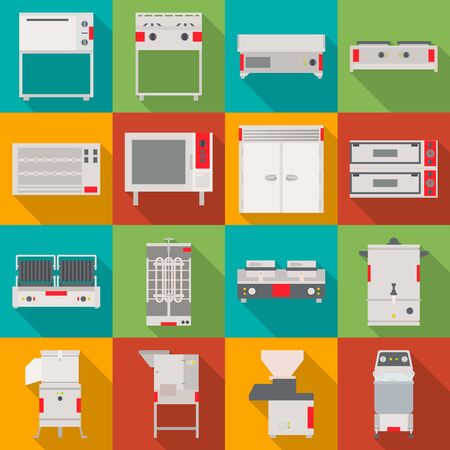 Isolated object of domestic and appliances icon. Collection of domestic and furniture stock vector illustration. Vector Illustratie