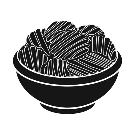Isolated object of bowl and chip sign. Web element of bowl and potato stock vector illustration. Иллюстрация