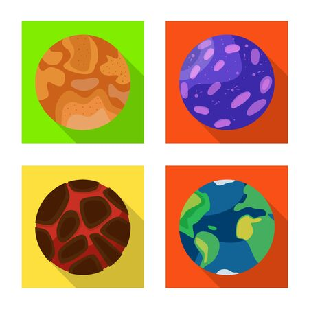 Vector design of galaxy and orbit . Collection of galaxy and cosmos vector icon for stock.