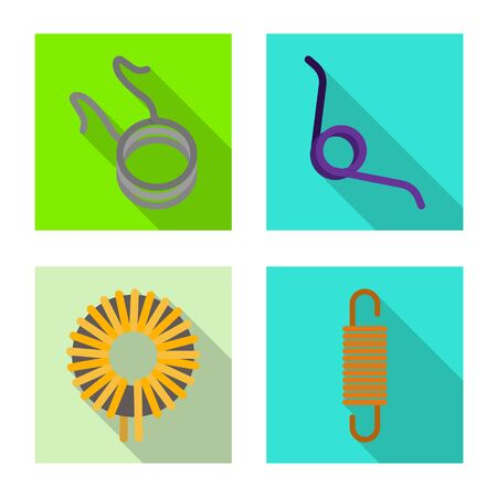 Isolated object of compression and torsion symbol. Collection of compression and technology vector icon for stock.