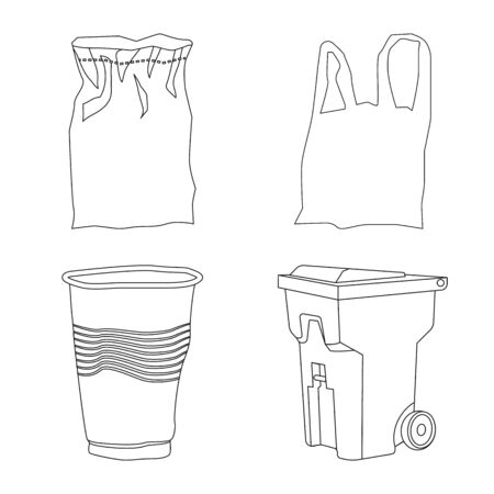 Vector design of order and recycling sign. Collection of order and sort stock symbol for web.