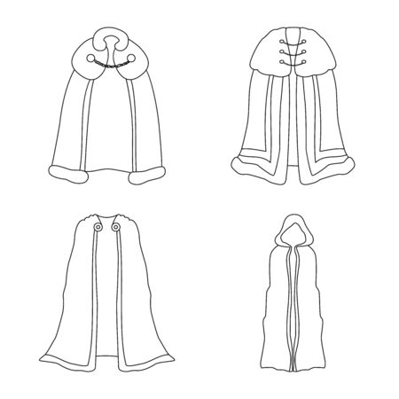 Vector design of robe and garment sign. Collection of robe and cloth stock vector illustration.