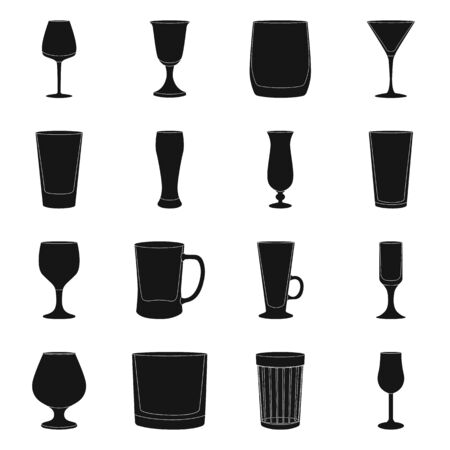 Isolated object of texture and volume icon. Set of texture and container vector icon for stock.  イラスト・ベクター素材
