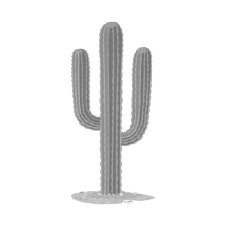 Vector illustration of cactus and houseplant icon. Graphic of cactus and succulent stock symbol for web.