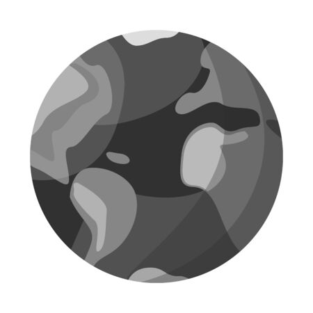 Vector illustration of earth and globe sign. Web element of earth and sphere stock symbol for web.