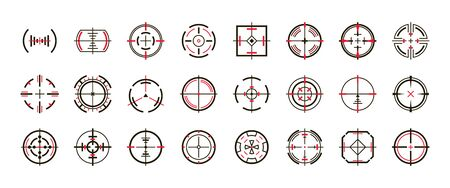 Sniper sight vector black set icon. Vector illustration sight and target. Isolated black icon eye target on white background .