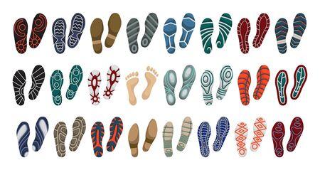 Impression de l'icône de jeu de dessin animé de vecteur de chaussure. Impression d'illustration vectorielle de chaussure unique sur fond blanc. Pied d'empreinte d'icône de jeu isolé.