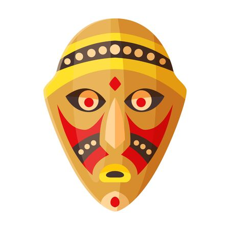 African mask vector icon.Cartoon vector icon isolated on white background african mask.