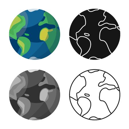 Vector design of earth and globe . Web element of earth and sphere stock vector illustration.