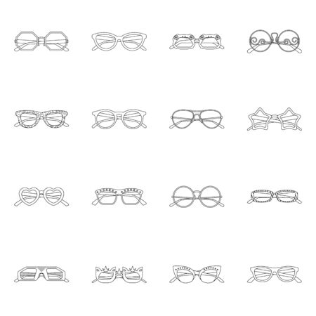 Isolated object of glasses and sunglasses icon. Set of glasses and accessory stock symbol for web. 스톡 콘텐츠 - 133807480