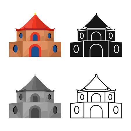 Vector design of tower and vietnam icon. Set of tower and city stock vector illustration. 일러스트