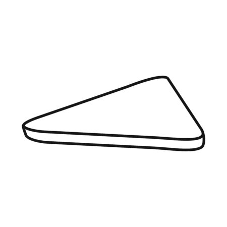 Vector design of bread and toast sign. Graphic of bread and cuisine stock symbol for web.