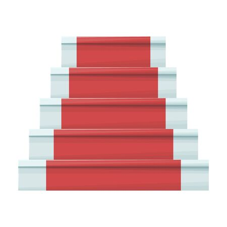 Staircase with carpet vector icon.Cartoon vector icon isolated on white background staircase with carpet. Stock Illustratie