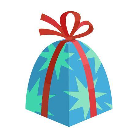 Giftbox vector icon.Cartoon vector icon isolated on white background giftbox.